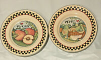 "CERTIFIED INTERNATIONAL Susan Winget HARVEST FAIR Dinner Plates 9.5"" Set of 2"