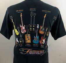 Famous Guitars Large T-Shirt - Hendrix, Vaughan, Kurt Cobain, Jimmy Page, Eddie