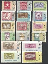 HAITI  # 616-616-O,  Used,  OLYMPICS - STAMP ON STAMPS