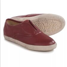 Small Frye Chambers Slip On leather shoes Youth 2 tennies sneakers burnt red