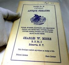 Antiques Firearms Catalogue No 32 Charles W. Moore Rifles Muskets Flinlock pisto
