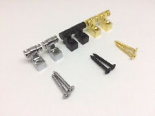 1 PAIR of Roller Guitar String Tree String Guides, Chrome, Black, Gold NEW