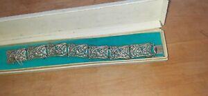 Armband versilbert tolle Ornamente 60er Jahre