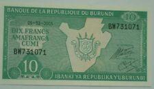 BURUNDI - 10 Francs uncirculate bank note