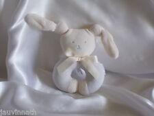 Doudou lapin bleu, hochet, Corolle 2003