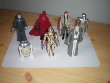 vintage  star wars  lot figurines années 70-80