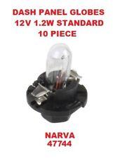 10x Dash Panel Globes 12 Volts 1.2 Watt Standard BX8.4d Globe Base NARVA 47744