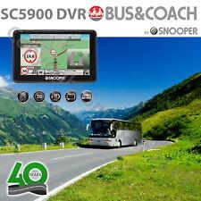 """Snooper SC5900 DVR Bus & Coach G2 Navigation Dash Cam GPS Sat Nav 5"""" UK & EU"""