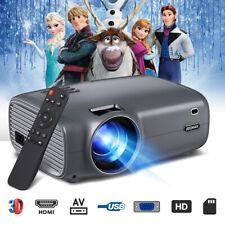 JEEMAK 4K 1080P Mini LED Portable Projektor Heimkino Beamer Home Multimedia USB