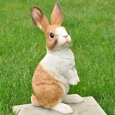 Gartendeko Gartenfigur Tier Skulptur Deko Figur Kaninchen Hase wetterfest 38 cm