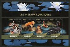 DJIBOUTI 2016 AQUATIC BIRDS  SHEET MINT NH