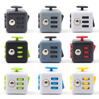 6-side Magic Cube Stress Reliver Fidget Cubes Antsy Anxiety Funny ABS Toys Gifts