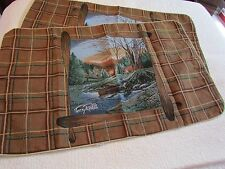 Terry Redlin Morning Solitude Rustic Lodge Cabin Tapestry King Pillow Sham Set
