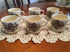 "VINTAGE RETRO 1970s JOHNSON OF AUSTRALIA ""RONDELAY"" TEA CUPS SET OF 6 FRANKSTON"