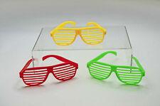 12 x Atzenbrille Partybrille Jalousiebrille Karneval Verschiedene Farben