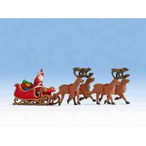 Noch 15924 1/87 H0 Characters Figurines Santa Claus Sound Sledge & These Deer Ho