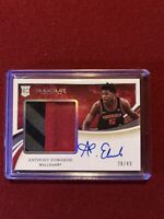 ANTHONY EDWARDS 2020-21 PANINI IMMACULATE ROOKIE 3 COLOR PATCH AUTO RPA 28/49
