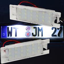 Set LED SMD Kennzeichenbeleuchtung FIAT Kennzeichenleuchten Nummernschild 71001