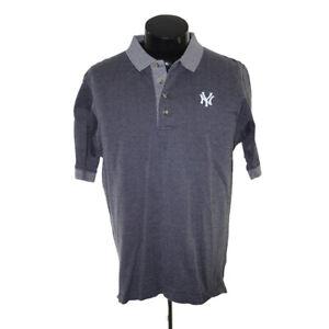 New York Yankees shirt Golf polo adult medium Gray Black