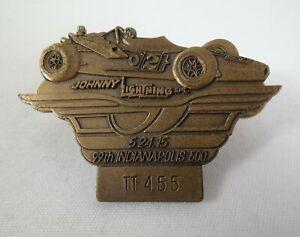 2015 Indy 500 99th Bronze Pit Badge Al Unser Sr. Johnny Lightning Parnelli Jones