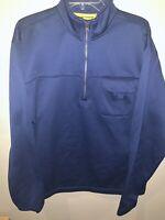 Chaps Blue Performance 1/4 Zip Pullover Men's XL Fleece lined