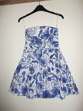 LADIES H & M BLUE AND WHITE TOP /  MINI DRESS SIZE 4