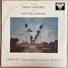 Decca SXL 2026 Campoli Bouly Mendelssohn VC Bruch Scottish Fantasia