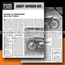 ★ HARLEY-DAVIDSON 350 SX ★ 1973 Essai Moto / Original Road Test #b31