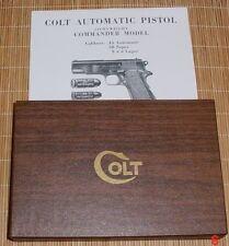 Colt Government Model Combat Commander 1965-72 Vintage Colt Box & Manual