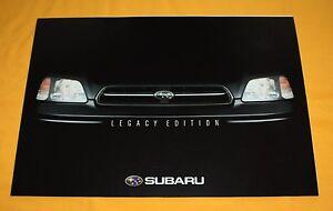 Subaru Legacy Edition 2001 Prospekt Brochure Catalog Depliant Folder Prospetto