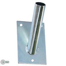 Fahnenhalter Fahnenmast Fahnemasthalter Fahne Flagge 1-Fach 23mm Silber Verzinkt