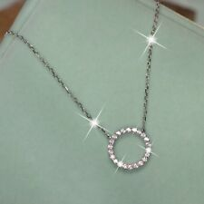 925 sterling silver simulated diamond round circle pendant letter o necklace