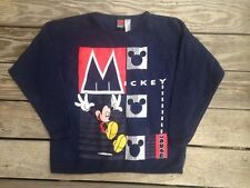 Vintge 1990s Disney Mickey Mouse Long Sleeve Graphic Shirt Top Sweatshirt