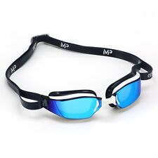 MP Michael Phelps Xceed Swimming Goggles - Titanium Mirrored - Blue White