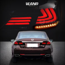 LED Tail Lights For Honda Accord 2013-2015 Smoked Lens Replacement Rear Lamp