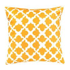 "Arabesque Mustard 18"" / 45cm Outdoor Water Resistant Scatter Cushion Garden"