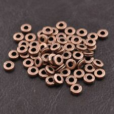 100X Tibetan Silver Round Flat Charm Spacer Beads 6MM Jewelry DIY Findings