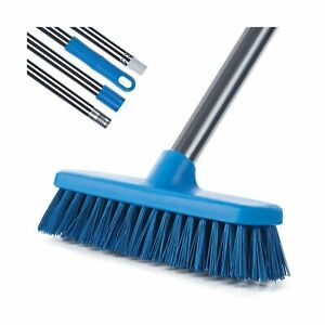 MEIBEI Floor Scrub Brush with Adjustable Long Handle-54 inch, Stiff Bristle G...