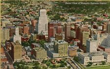 VTG 1942 Aerial View of Business District in Memphis Tennessee TN Postcard