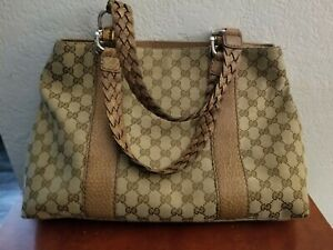 Gucci Guccissima Handbag/Brown/Coated Canvas