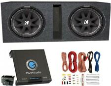 Kicker 10C124 600W 12-Inch Subwoofers With Ported Box Enclosure With Amp With
