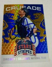 CHRIS OKEY autograph Crusade Baseball card CINCINNATI REDS auto Clemson Tigers