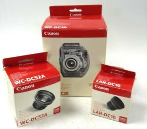 Bundle x3 Canon Digital Camera Accessories WCDC52A WP-DC20 LAH-DC10 All Boxed