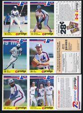 1986 Provigo Panels Montreal Expos -Set (28) -TIM RAINES, DAWSON, GALARRAGA