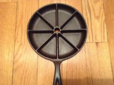 Vintage Unmarked Lodge Cast Iron Corn Bread Skillet 1940's Restored