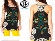 Crew Neck Floral Petite Sleeveless Tops & Shirts for Women