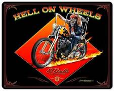 Motorcycle El Diablo Chopper Biker Metal Sign ManCave Garage Club Grossman LG487