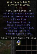 Ring 6% LL + Life + Res | Diablo 2 Resurrected D2R SC PC