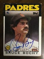 Bruce Bochy 1986 TOPPS AUTOGRAPHED SIGNED AUTO BASEBALL CARD Padres 608