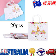 20Pcs Paper Bag Unicorn Storage Pouch Gift Bag Candy Bag for Party Supply